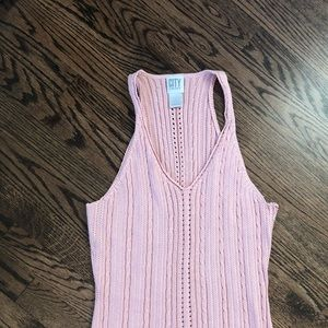 DKNY racer back sweater tank top